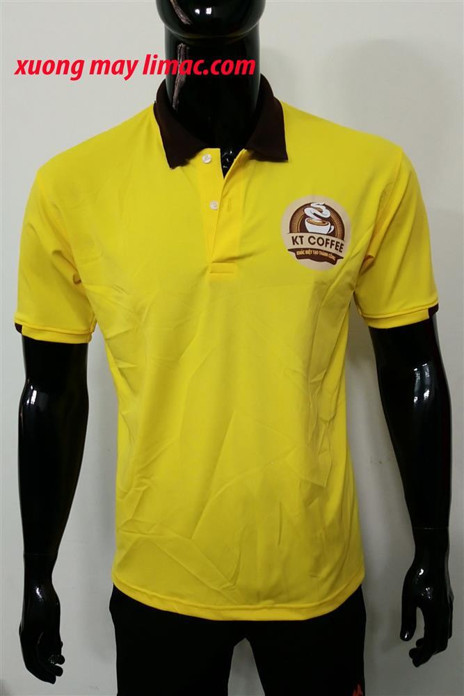 áo thun cá sấu poly màu vàng